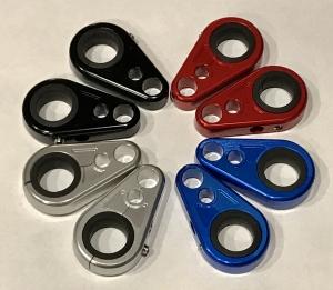 Yamaha ATV Billet Brake Line Clamps for Aftermarket Brakelines Silver Pair-Set of 2 6 color options